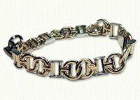 Custom 14KY C H bracelet - Monogram bracelets & Initial bracelets