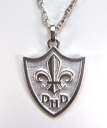 14KW Custom Family Crest Pendant with Initials
