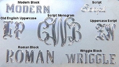 Examples of Machine Engraved Fonts