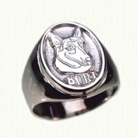 Custom dog signet ring