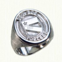 Sterling silver family crest signet ring