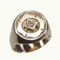 14KY Custom Masonic Signet Ring