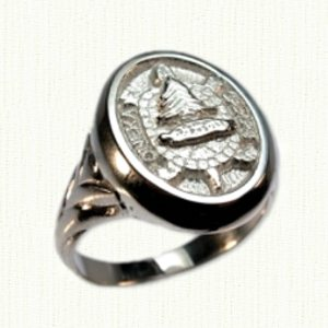Custom Camp Oneka Signet Ring - fancy shank