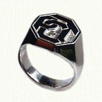 14KY Octagonal Signet Ring